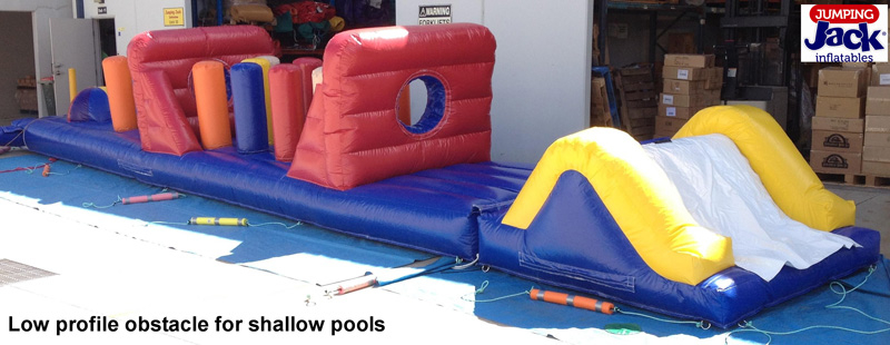 low profile pool obstacle