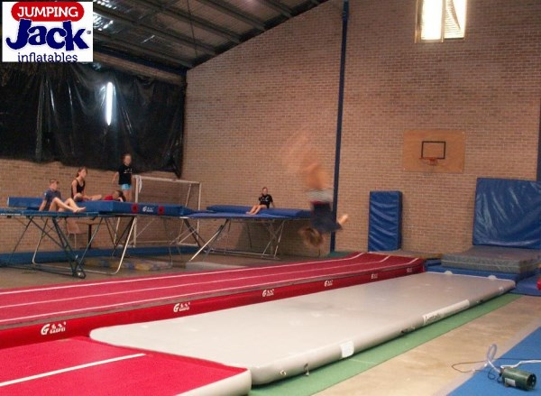 gymtastic girl in air